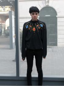 Josh's Feminine Street Style in Spitalfields